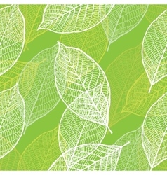 Seamless ornamental pattern with leaves vector image