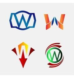 Set of Decorative Letter v - Icons Logo and Elemen vector