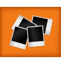 set of empty photos vector image vector image