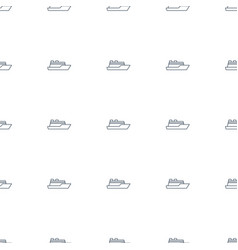 ship icon pattern seamless white background vector image