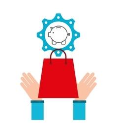 shopping e-commerce piggy money icon graphic vector image