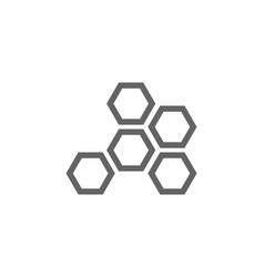 Simple honeycombs line icon symbol and sign vector