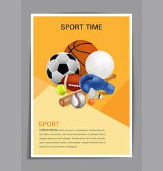 sport equipment poster design vector image