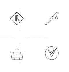 sport fitness and recreation simple linear icons vector image