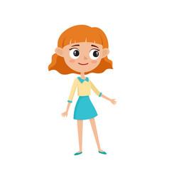 stylish hipster girl cartoon vector image