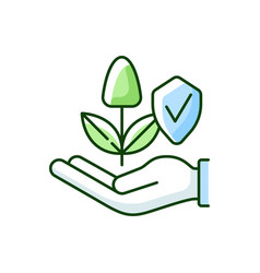 Sustainable agriculture rgb color icon vector