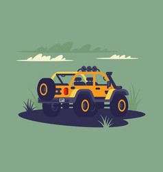 suv in the wild vector image