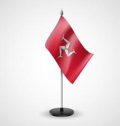 Table flag of Isle of Man vector image