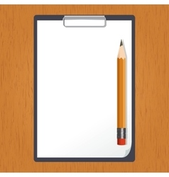 Tablet and pencil on the table vector image