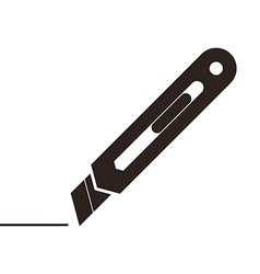 Utility knife sign vector