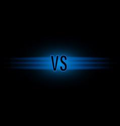 versus screen design vector image