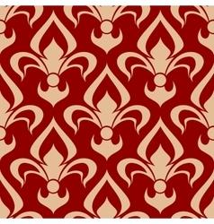 Victorian heraldic fleur-de-lis seamless pattern vector image