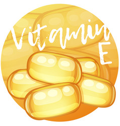 Vitamin e capsules vector