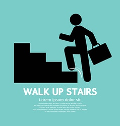 Walk Up Stairs Symbol vector image