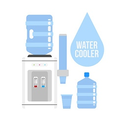 Water cooler vector image
