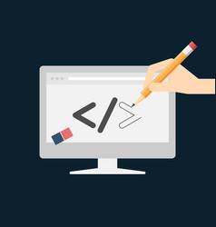 web design and development concept vector image