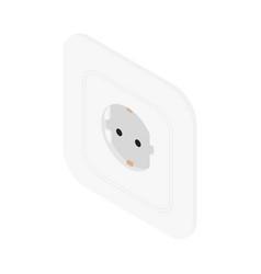 white electric socket european socket vector image