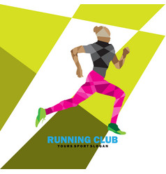 woman running exercise vector image