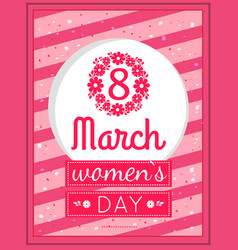 womens day march eight greeting card design vector image