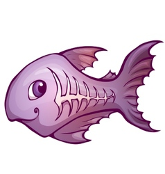 x-ray fish in cartoon style vector image vector image