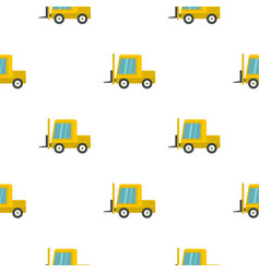Yellow stacker loader pattern flat vector