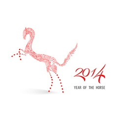 Abstract sketch Chinese new year of the Horse vector image vector image