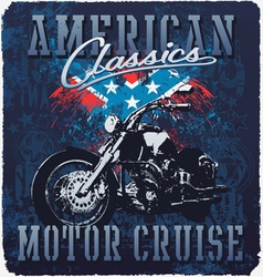 American classic motor cruise vector