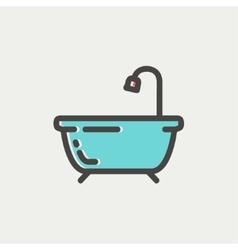 Bathtub thin line icon vector image vector image