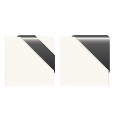 Black and white paper corners vector image vector image