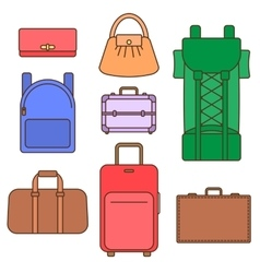 Different types of bags vector image vector image