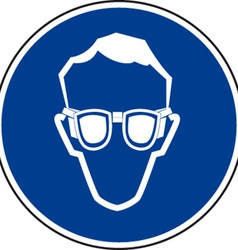 Eye Protection Must Be Worn Sign vector image vector image