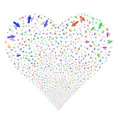 medic fireworks heart vector image vector image