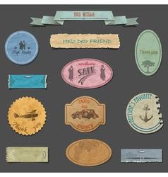 Paper vintage design elements vector image vector image