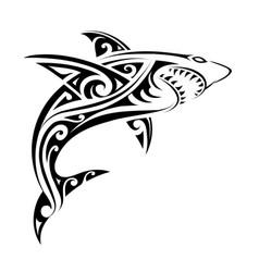 shark tattoo shape vector image vector image