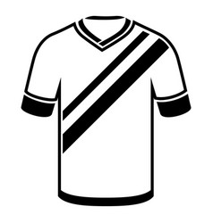 shirt football icon simple black style vector image