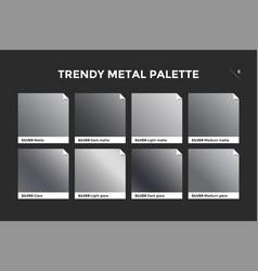 silver gradient template icon vector image