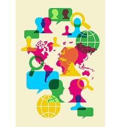 social network communication symbols vector image