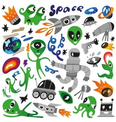 space icons - vector image