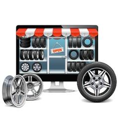 Tire Shop Concept vector image