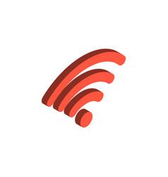 wireless network isometric 3d icon vector image