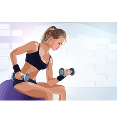 Young sports woman vector image vector image