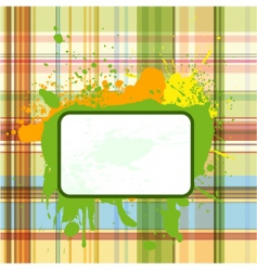 grunge checked background vector image vector image
