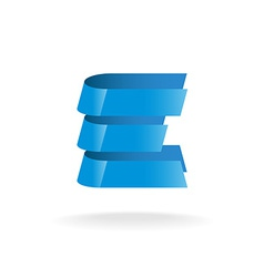 Letter E logo Technical style blue bars vector image vector image