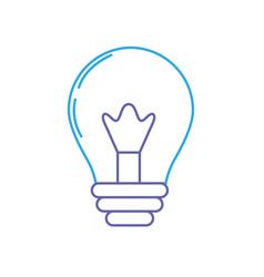 line light energy bulb to illumination vector image