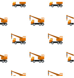 orange truck crane pattern flat vector image vector image