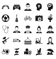 Personnel department icons set simple style vector