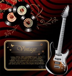 retro rock music background vector image vector image