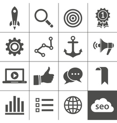 Search engine optimization icon set vector image vector image