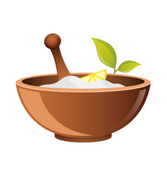 clay in cup for spa icon for web bowl for vector image vector image
