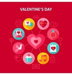 Concept Happy Valentine Day vector image vector image